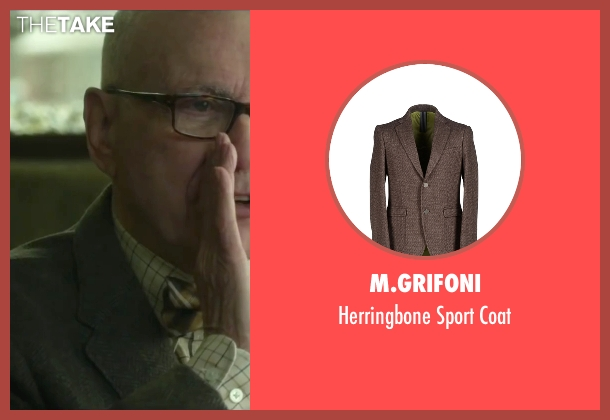 M.Grifoni brown coat from Love the Coopers seen with Alan Arkin (Bucky)