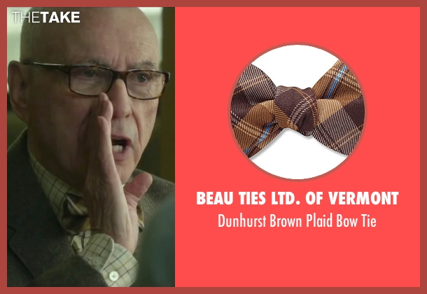 Beau Ties Ltd. of Vermont brown tie from Love the Coopers seen with Alan Arkin (Bucky)