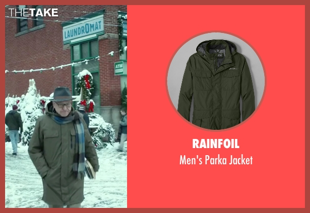 Rainfoil green jacket from Love the Coopers seen with Alan Arkin (Bucky)