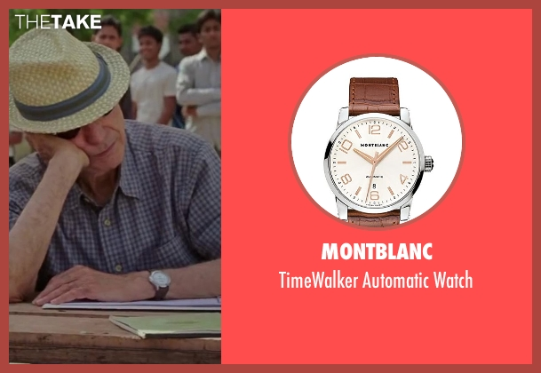 Montblanc brown watch from Million Dollar Arm seen with Alan Arkin (Ray Poitevint)