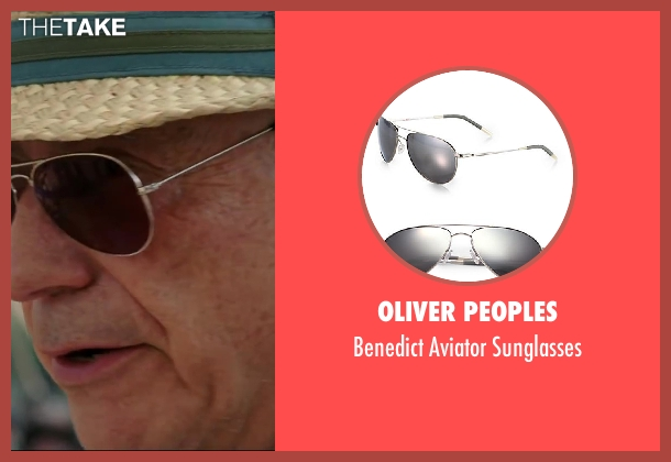 Oliver Peoples sunglasses from Million Dollar Arm seen with Alan Arkin (Ray Poitevint)