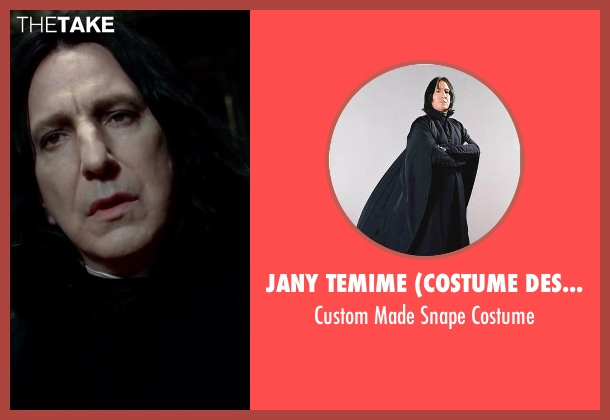 Jany Temime (Costume Designer) costume from Harry Potter and the Deathly Hallows: Part 2 seen with Alan Rickman (Professor Severus Snape)