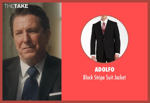 Adolfo black jacket from Lee Daniels' The Butler seen with Alan Rickman (Ronald Reagan)