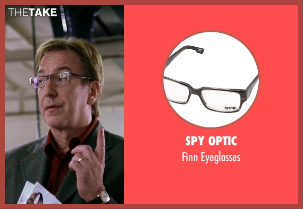 Spy Optic brown eyeglasses from Love Actually seen with Alan Rickman (Harry)