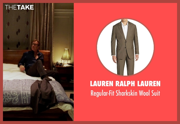 Lauren Ralph Lauren brown suit from Love Actually seen with Alan Rickman (Harry)