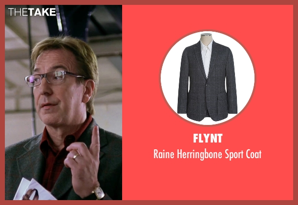 Flynt gray coat from Love Actually seen with Alan Rickman (Harry)