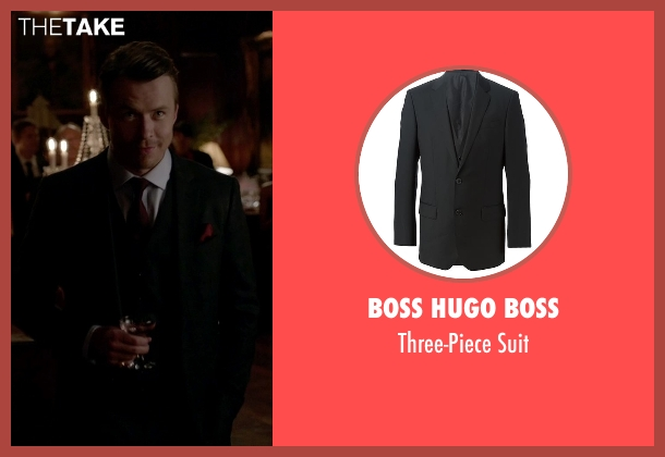 Boss Hugo Boss black suit from The Vampire Diaries seen with Alaric Saltzman (Matthew Davis)
