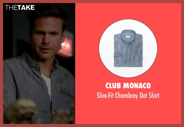 Club Monaco blue shirt from The Vampire Diaries seen with Alaric Saltzman (Matthew Davis)