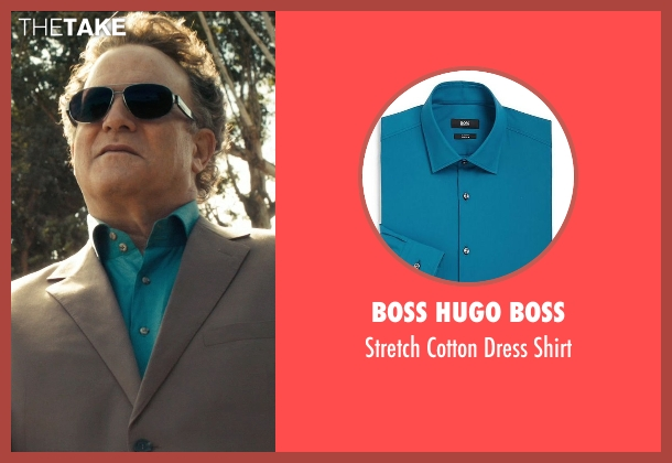 Boss Hugo Boss blue shirt from Drive seen with Albert Brooks (Bernie Rose)