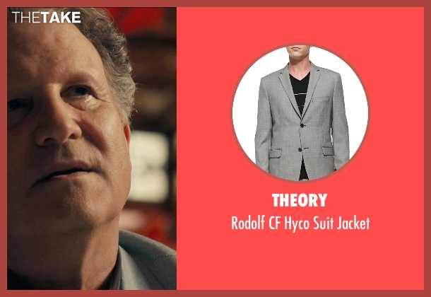 Theory gray jacket from Drive seen with Albert Brooks (Bernie Rose)