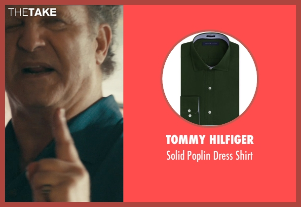 Tommy Hilfiger green shirt from Drive seen with Albert Brooks (Bernie Rose)