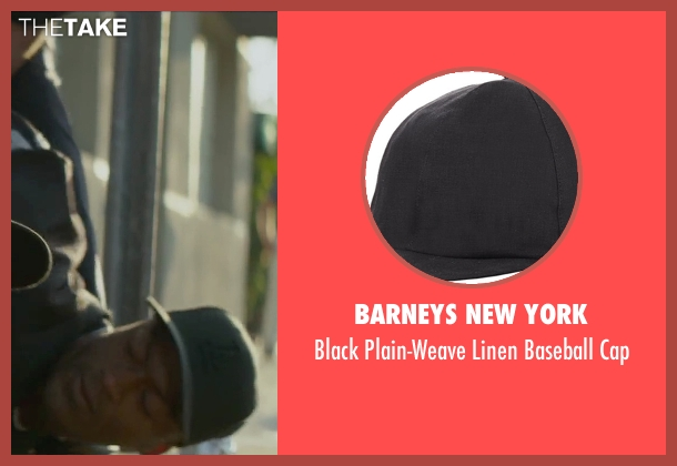 Barneys New York black cap from Straight Outta Compton seen with Aldis Hodge (MC Ren)