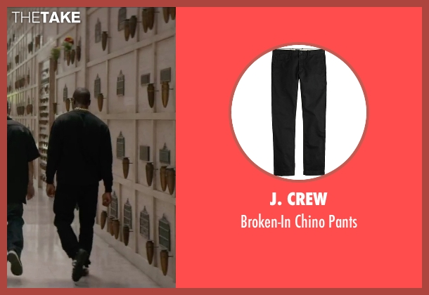 J. Crew black pants from Straight Outta Compton seen with Aldis Hodge (MC Ren)