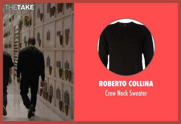 Roberto Collina black sweater from Straight Outta Compton seen with Aldis Hodge (MC Ren)
