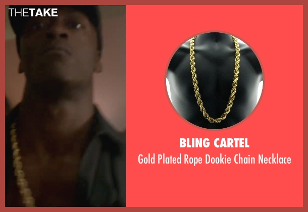 Bling Cartel gold necklace from Straight Outta Compton seen with Aldis Hodge (MC Ren)