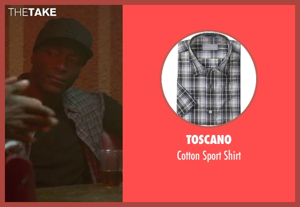 Toscano gray shirt from Straight Outta Compton seen with Aldis Hodge (MC Ren)