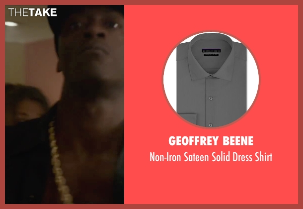 Geoffrey Beene gray shirt from Straight Outta Compton seen with Aldis Hodge (MC Ren)