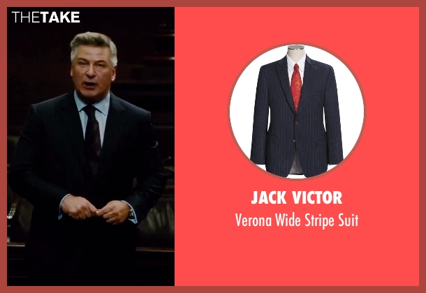 Jack Victor blue suit from Mission: Impossible - Rogue Nation seen with Alec Baldwin (The Head of The CIA)