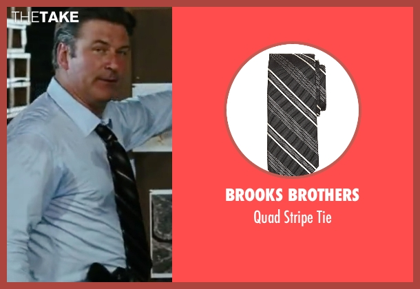 Brooks Brothers black tie from The Departed seen with Alec Baldwin (Ellerby)