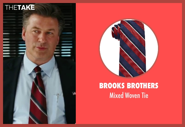 Brooks Brothers red tie from The Departed seen with Alec Baldwin (Ellerby)