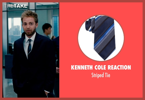 Kenneth Cole Reaction blue tie from The Secret Life of Walter Mitty seen with Alex Anfanger (Ted's Toner Box Associate)