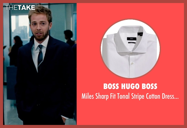 Boss Hugo Boss white shirt from The Secret Life of Walter Mitty seen with Alex Anfanger (Ted's Toner Box Associate)