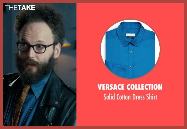 Versace Collection blue shirt from Survivor seen with Alex Beckett (Howie)