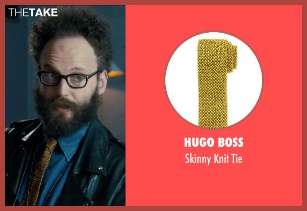 Hugo Boss yellow tie from Survivor seen with Alex Beckett (Howie)