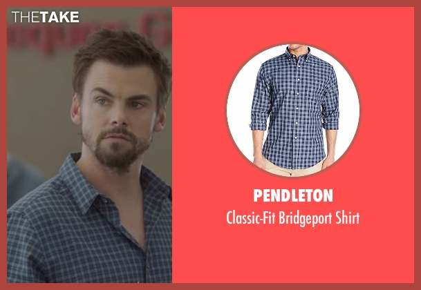 Pendleton blue shirt from Casual seen with Alex Cole (Tommy Dewey)