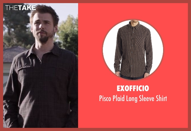 ExOfficio brown shirt from Casual seen with Alex Cole (Tommy Dewey)