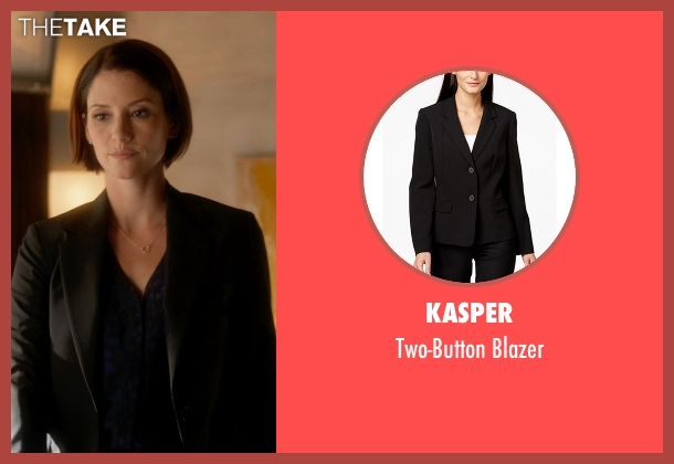 Kasper black blazer from Supergirl seen with Alex Danvers (Chyler Leigh)