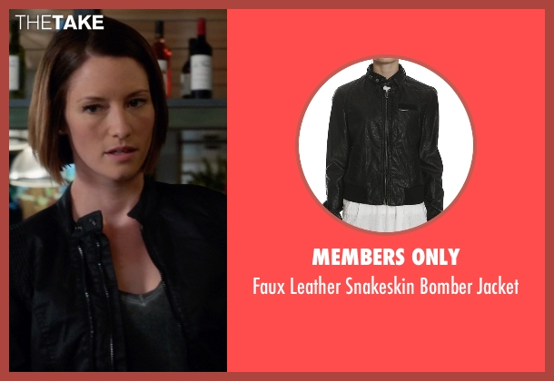 Members Only black jacket from Supergirl seen with Alex Danvers (Chyler Leigh)
