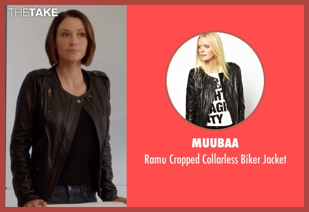 Muubaa black jacket from Supergirl seen with Alex Danvers (Chyler Leigh)