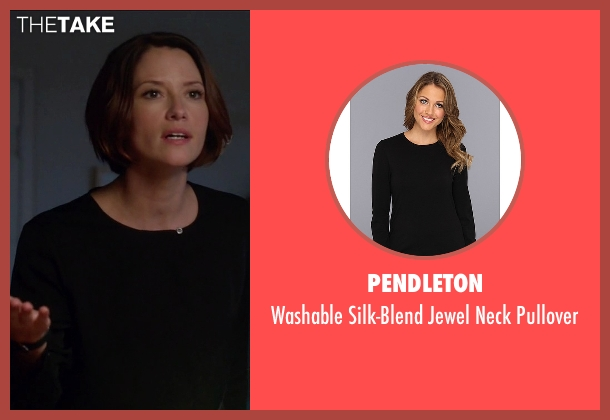 Pendleton black pullover from Supergirl seen with Alex Danvers (Chyler Leigh)
