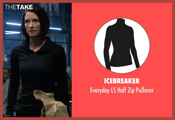 Icebreaker black pullover from Supergirl seen with Alex Danvers (Chyler Leigh)