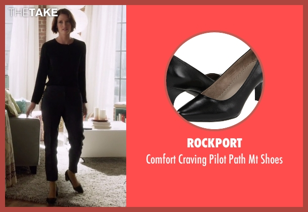 Rockport black shoes from Supergirl seen with Alex Danvers (Chyler Leigh)