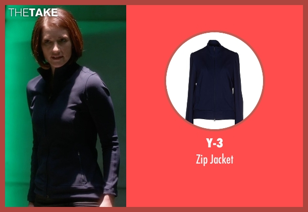 Y-3 blue jacket from Supergirl seen with Alex Danvers (Chyler Leigh)