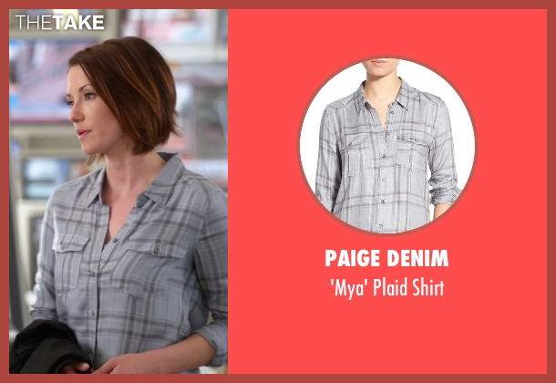 Paige Denim gray shirt from Supergirl seen with Alex Danvers (Chyler Leigh)