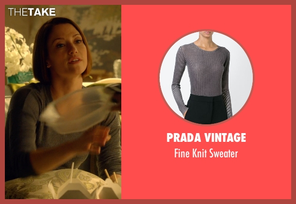 Prada Vintage gray sweater from Supergirl seen with Alex Danvers (Chyler Leigh)