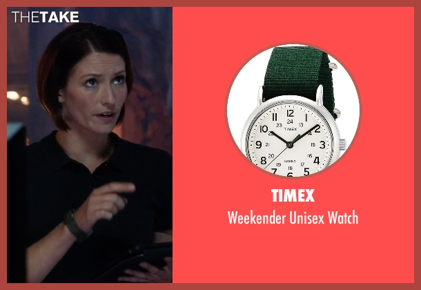Timex green watch from Supergirl seen with Alex Danvers (Chyler Leigh)
