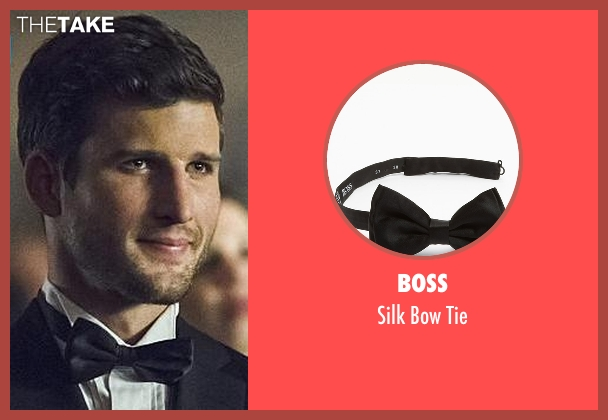 Boss black tie from Arrow seen with Alex Davis (Parker Young)