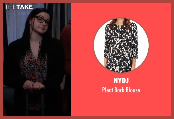 NYDJ black blouse from Modern Family seen with Alex Dunphy  (Ariel Winter)