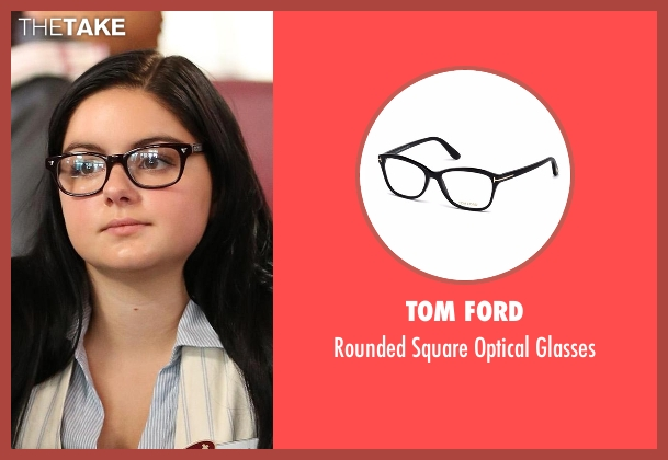 Tom Ford black glasses from Modern Family seen with Alex Dunphy  (Ariel Winter)