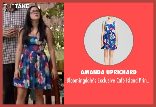 Amanda Uprichard blue dress from Modern Family seen with Alex Dunphy  (Ariel Winter)