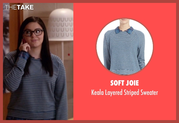 Soft Joie blue sweater from Modern Family seen with Alex Dunphy  (Ariel Winter)