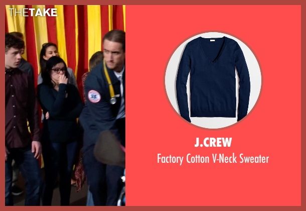 J.Crew blue sweater from Modern Family seen with Alex Dunphy  (Ariel Winter)