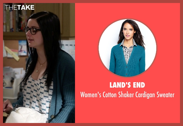 Land's End blue sweater from Modern Family seen with Alex Dunphy  (Ariel Winter)