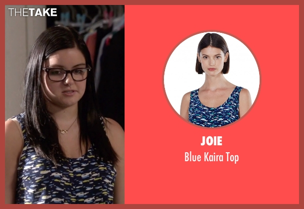 Joie blue top from Modern Family seen with Alex Dunphy  (Ariel Winter)