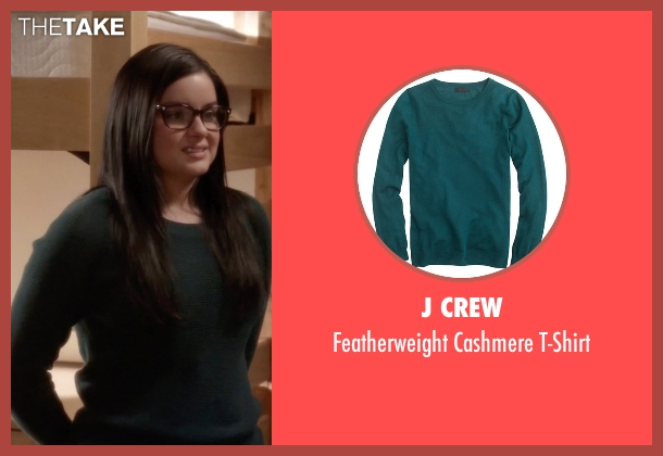 J Crew green t-shirt from Modern Family seen with Alex Dunphy  (Ariel Winter)