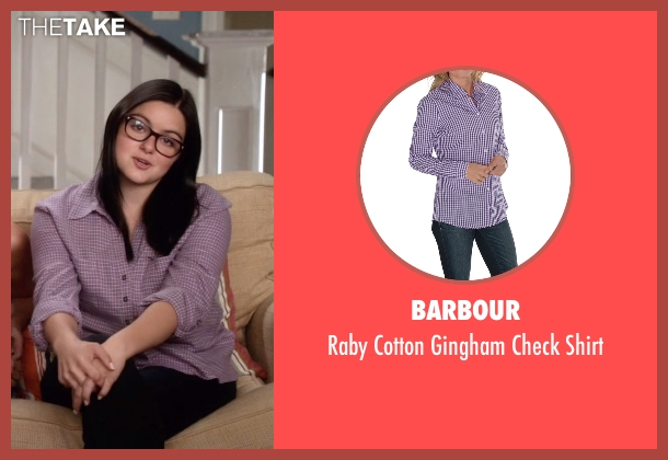Barbour purple shirt from Modern Family seen with Alex Dunphy  (Ariel Winter)
